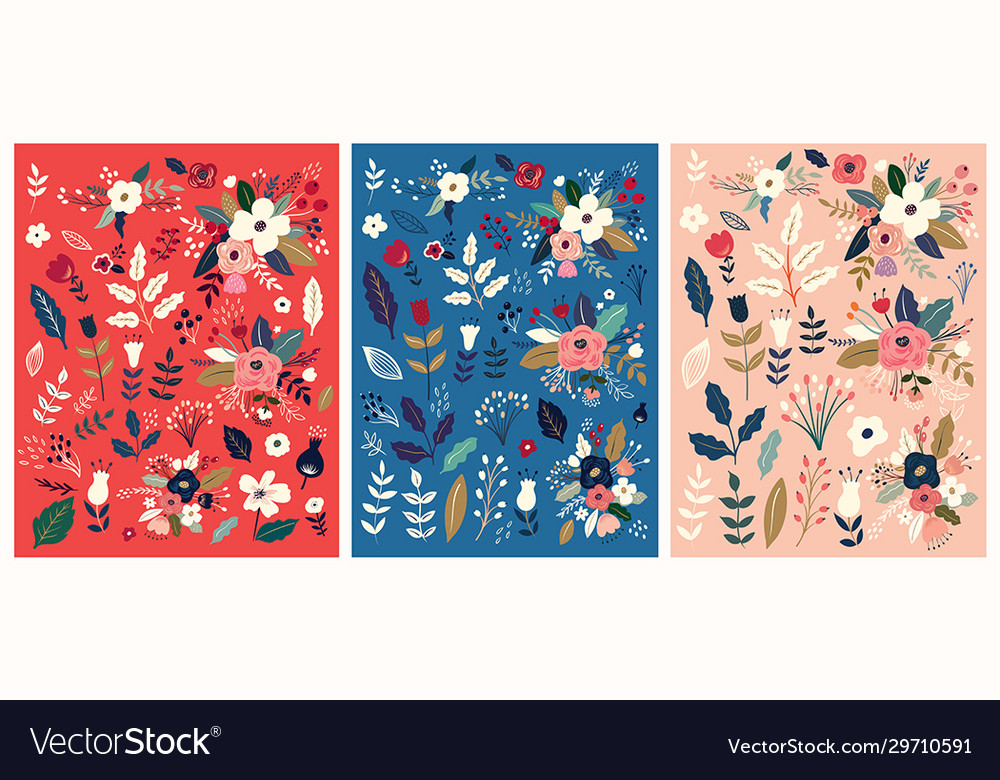Flower patterns collection