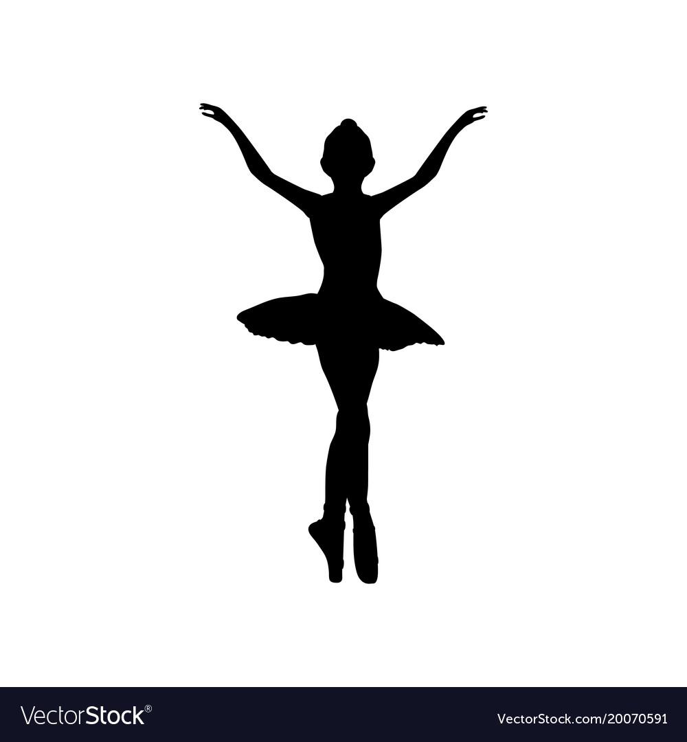 110ee89e401bb Girl ballerina silhouette dance ballet Royalty Free Vector