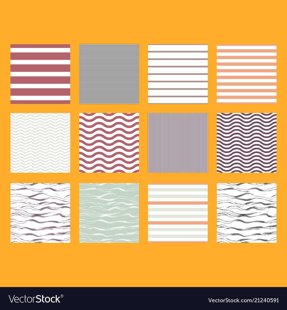 Pattern set stripe seamless design for wallpaper