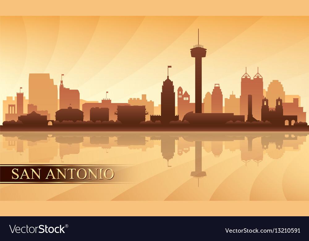San antonio city skyline silhouette background