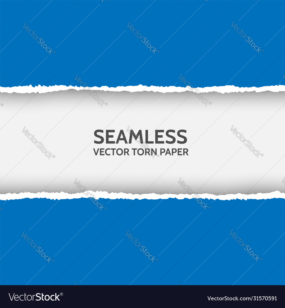 Seamless torn paper on white background