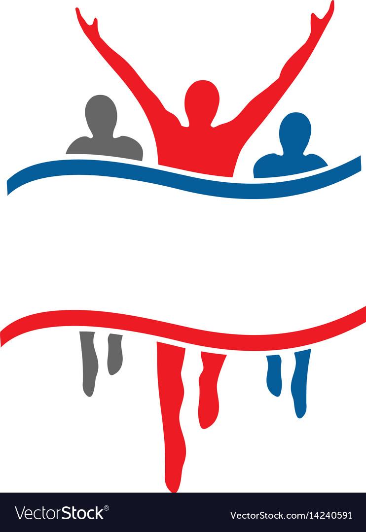 Success health winner logo template
