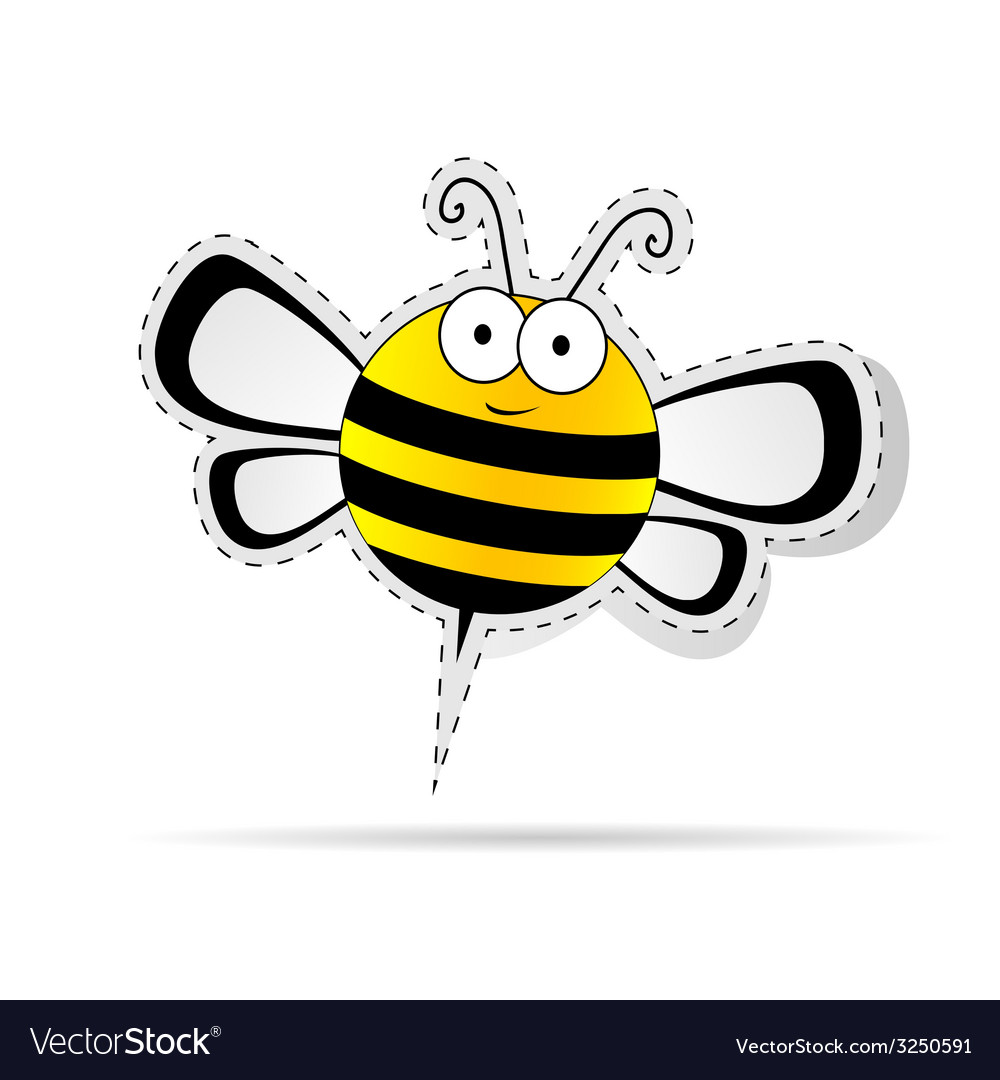 Sweet bee cartoon vector image