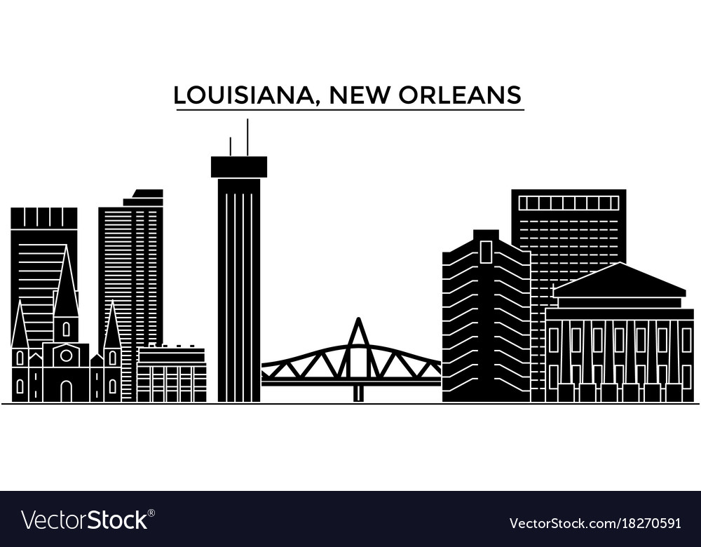 Usa louisiana new orleans architecture vector image