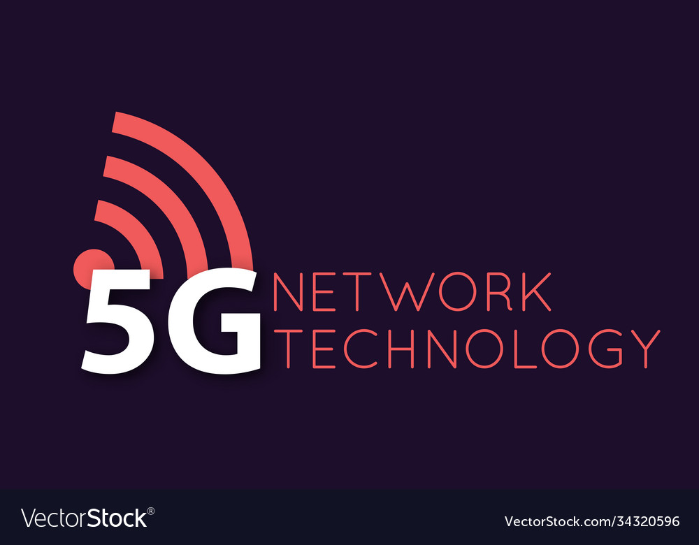 5g icon and symbol 5th generation wireless
