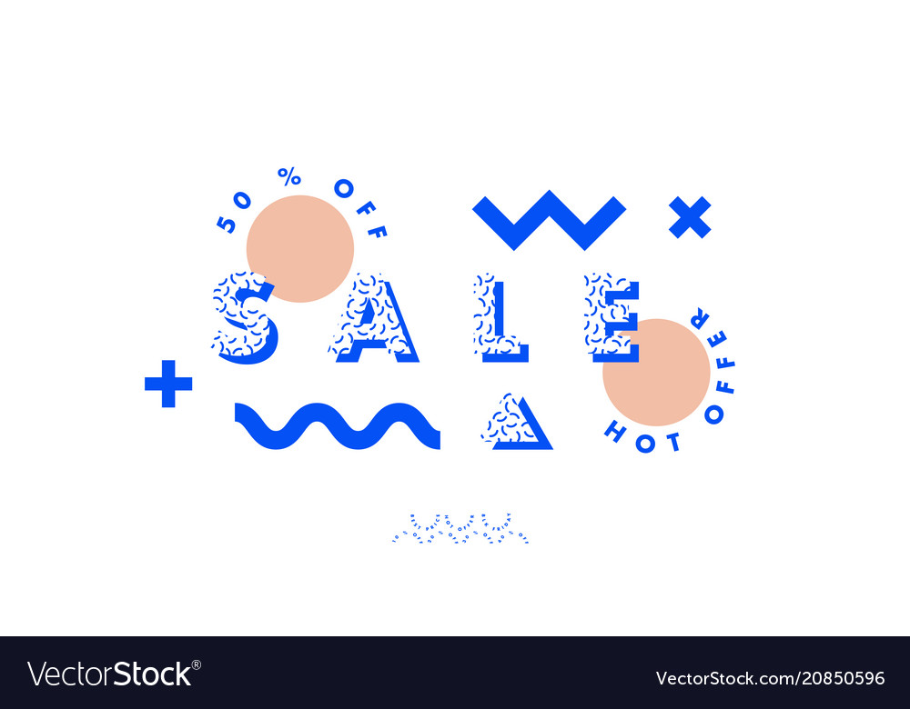 Abstract design sale banner