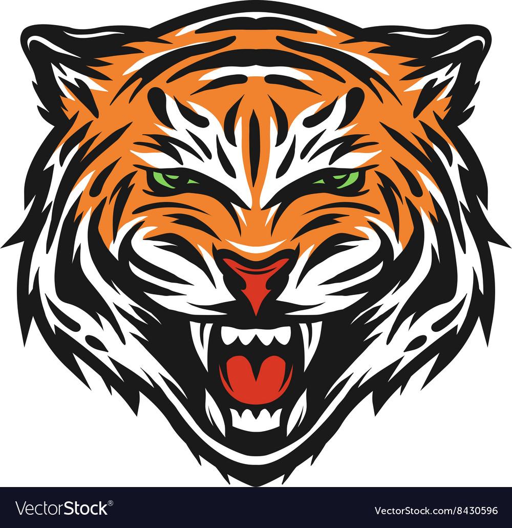 Aggressive tiger face
