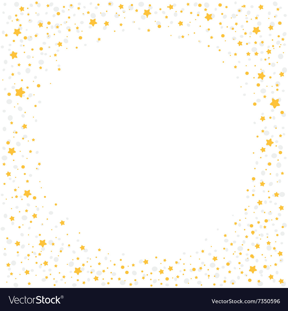 Christmas background with yellow stars