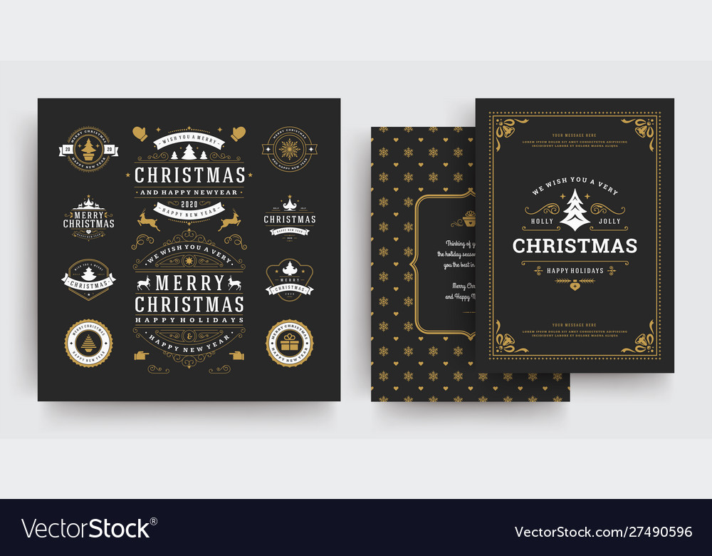 Christmas labels and badges design elements