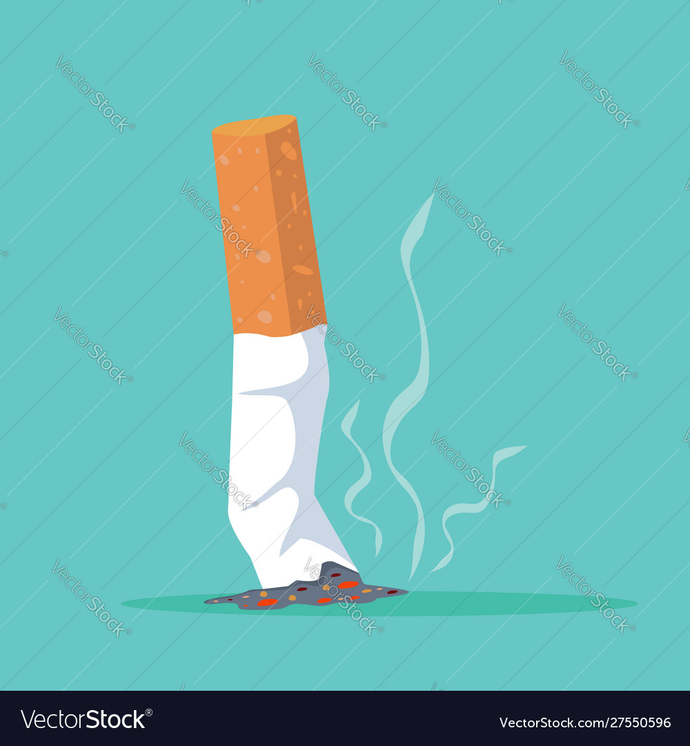 Cigarette butt flat