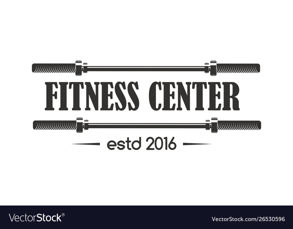 Gym sport club fitness emblem