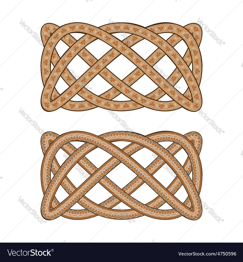 Intertwined with the Roman ornament pattern