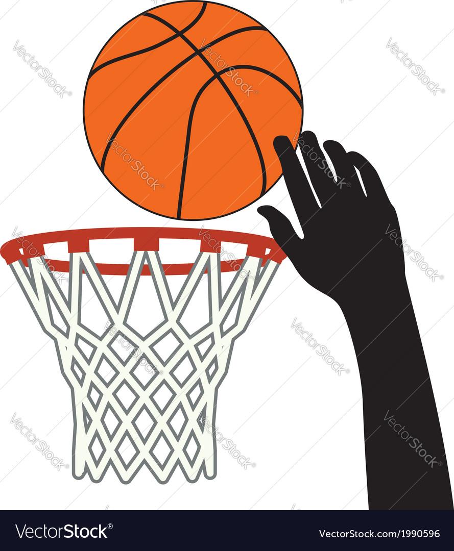 Lucky shot of basketball