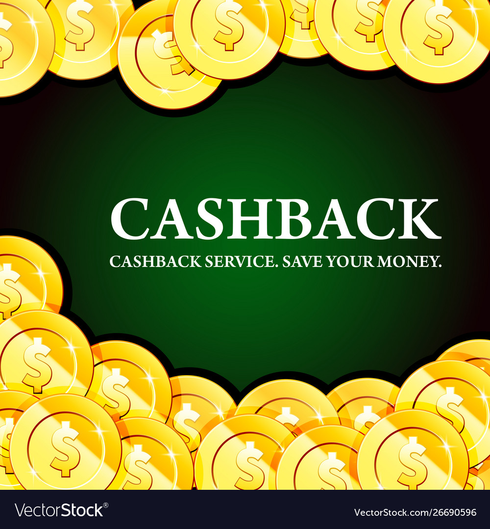 Poster with gold coins cash - casino fortune and