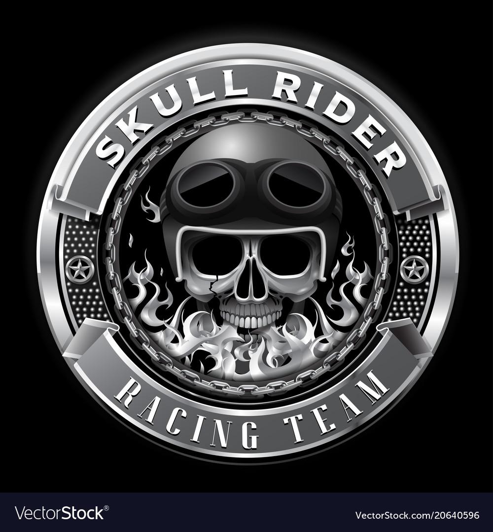 Skull rider racing team badge club team