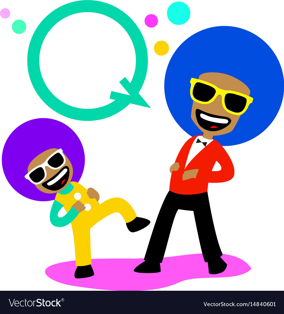 Afro laughing vector image