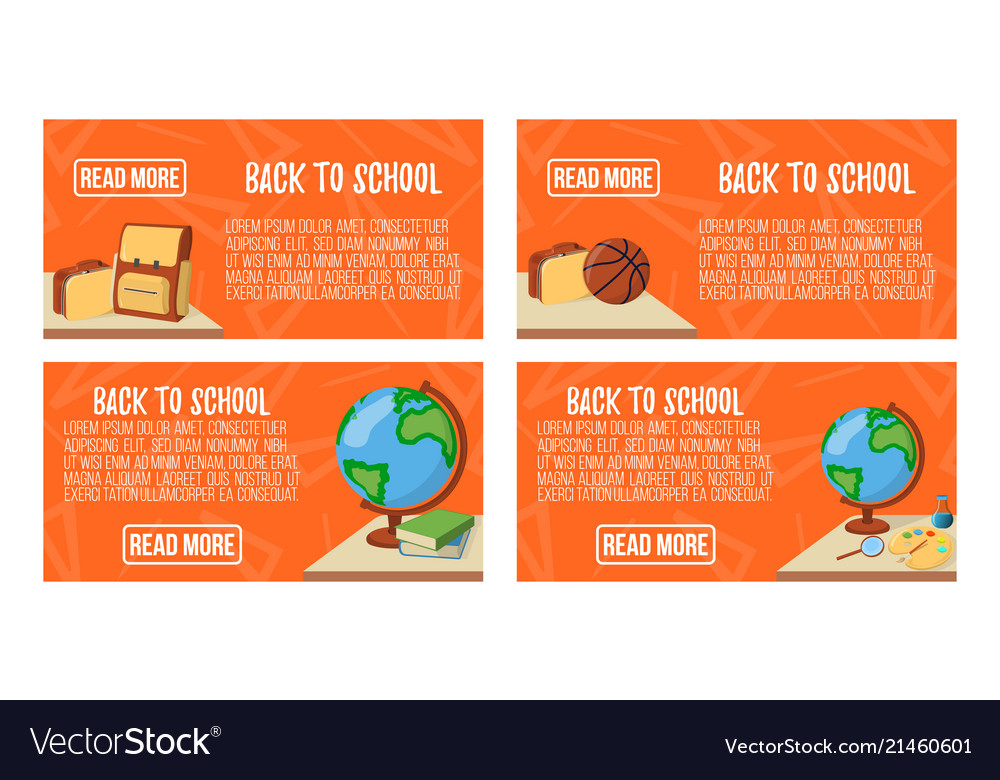 Back to school banner icon and logo isolated