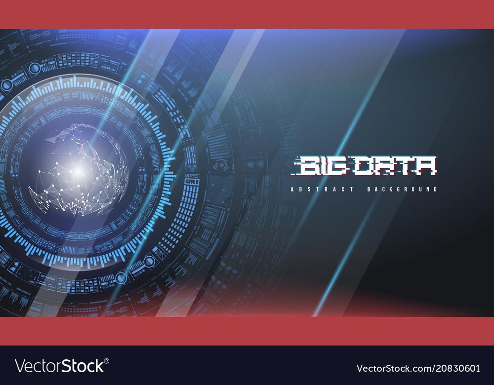 Big data abstract visualization futuristic