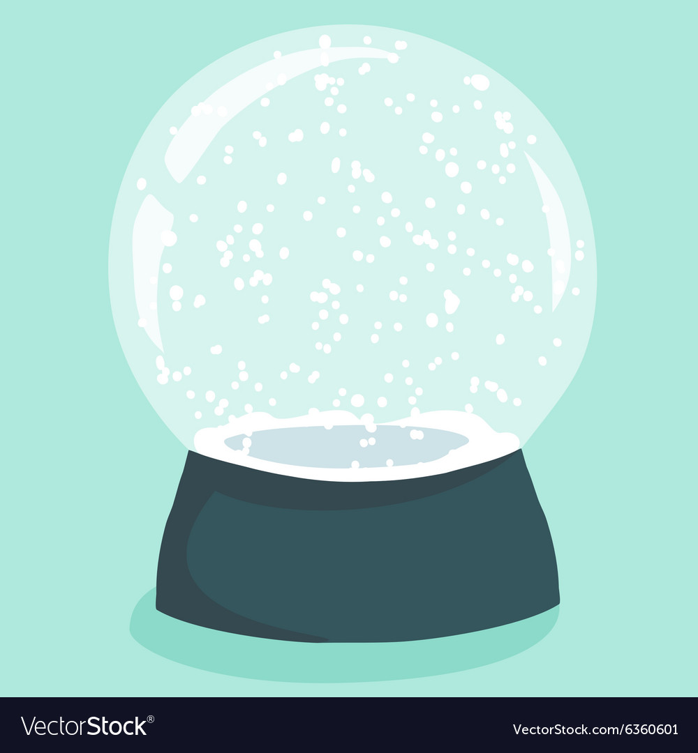 Bright with cute cartoon snow globe