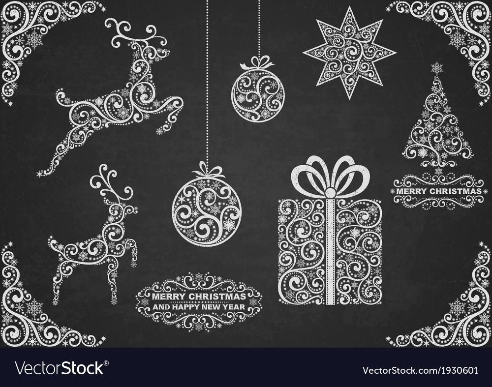 Christmas Symbols Hand Drawn