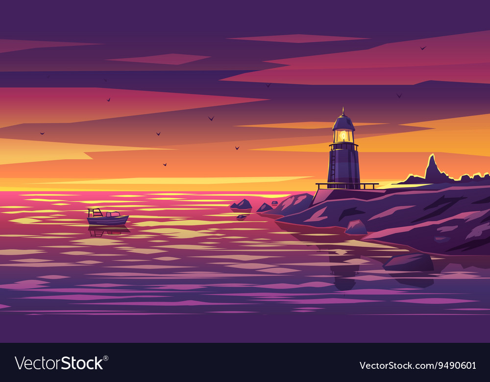 Colorful lighthouse for any