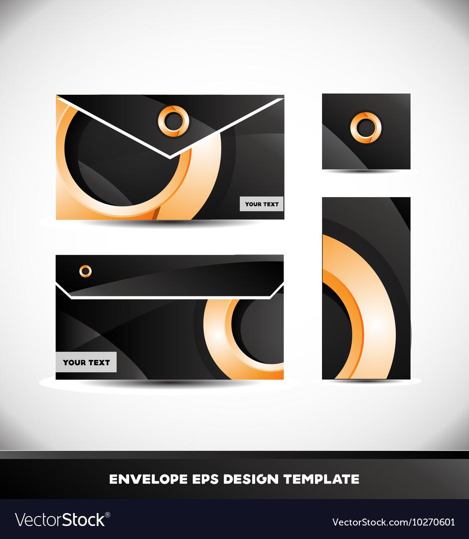 Orange Circle Envelope Design Template Royalty Free Vector