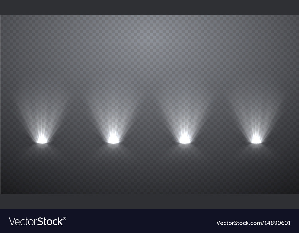 Scene illumination from below transparent effects