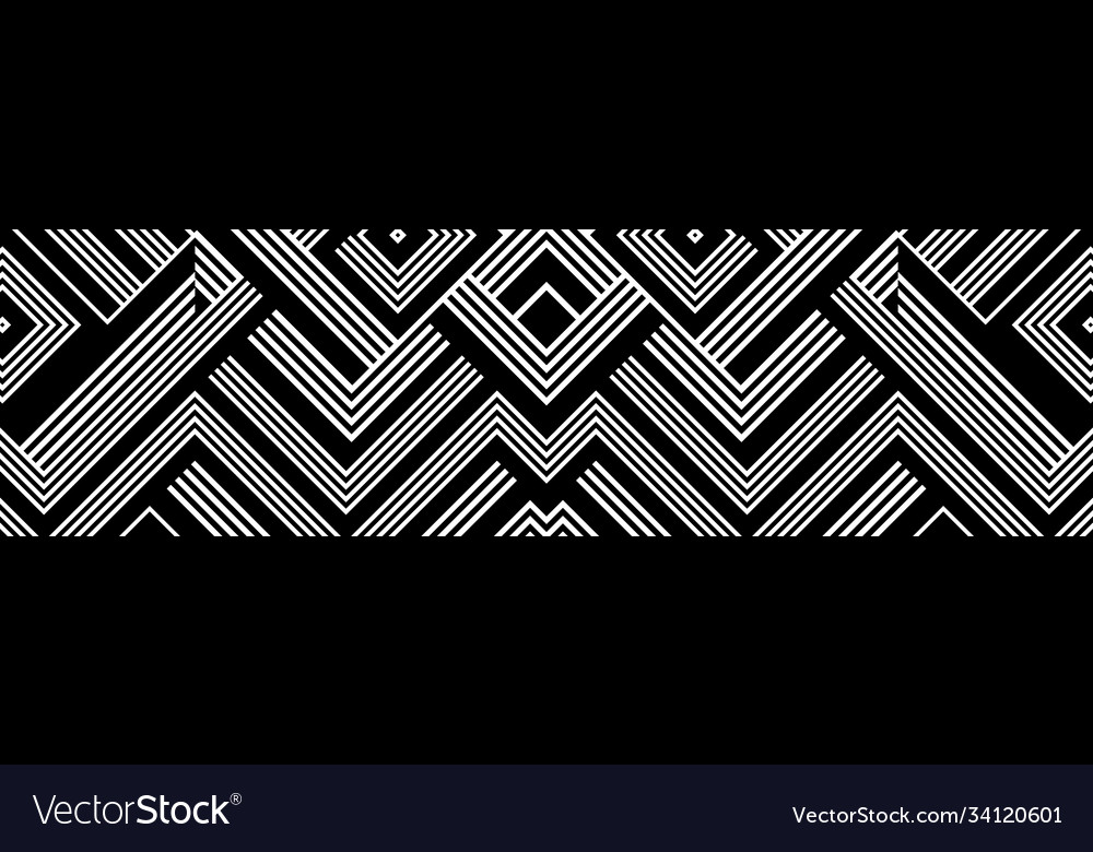Seamless abstract pattern with black white