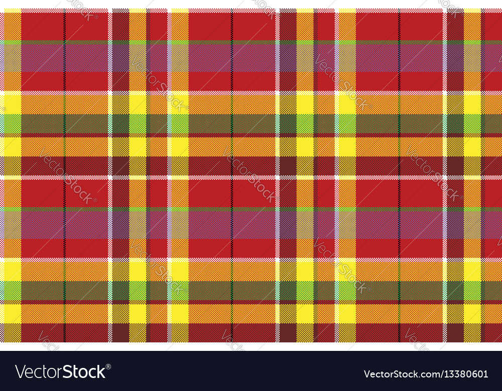 Summer seamless pattern madras check fabric