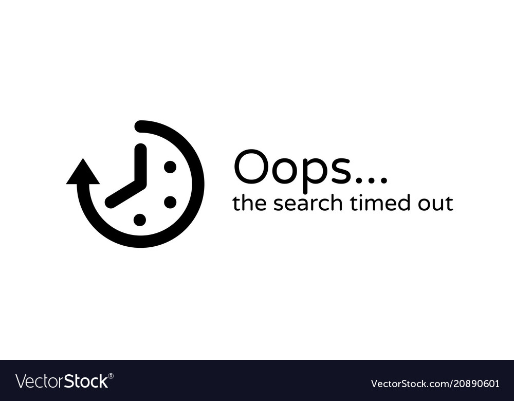 Timeout error time out icon background