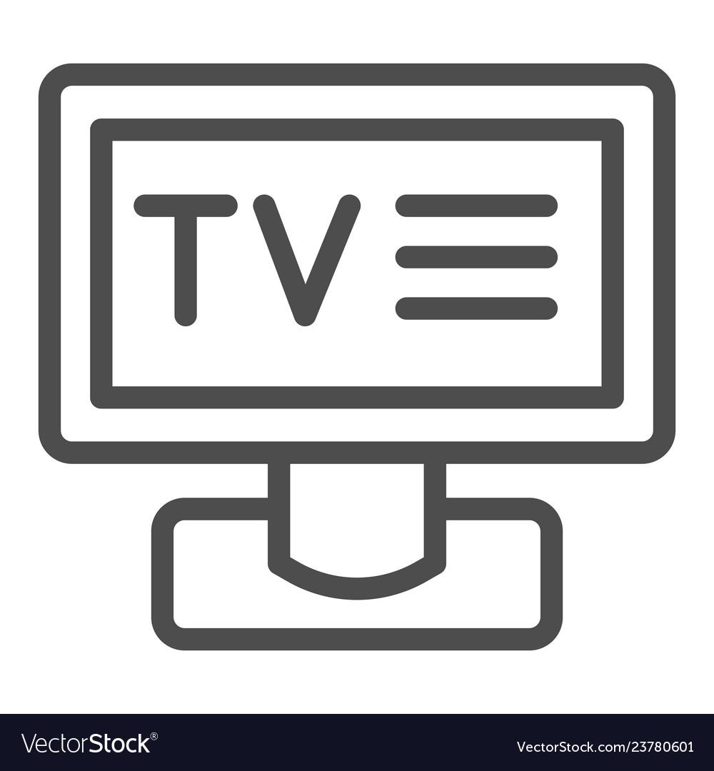 Tv line icon television