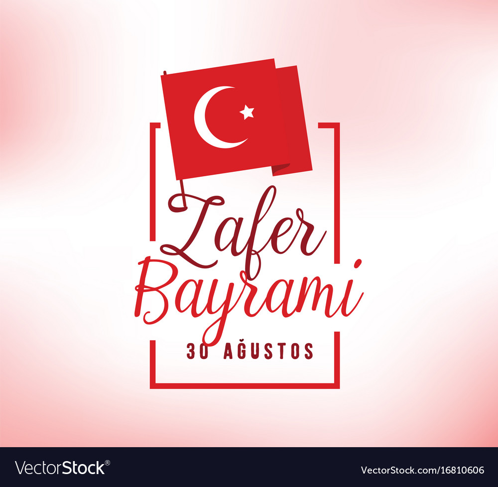 30 august turkey victory day vector image