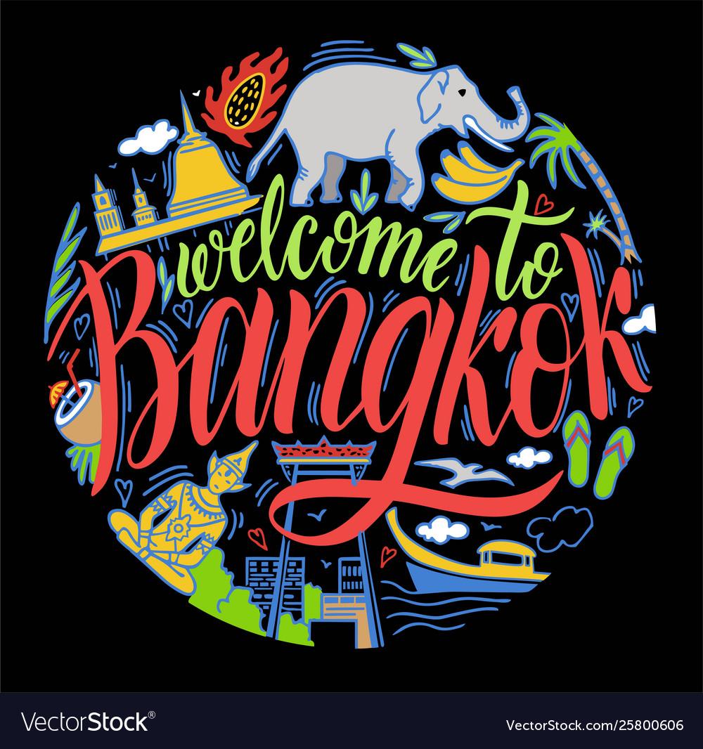 Bangkok thailand and landmarks travel attraction