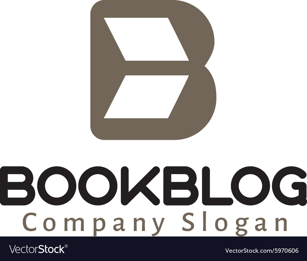 Book blog Logo vector image