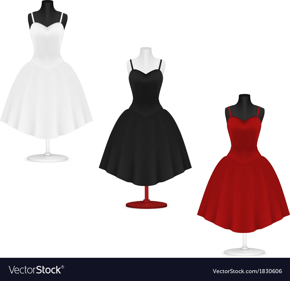 classic womens plain dress template royalty free vector