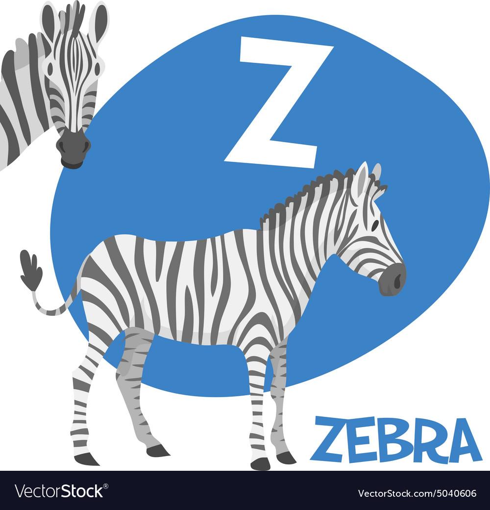 Funny cartoon animals alphabet letter set