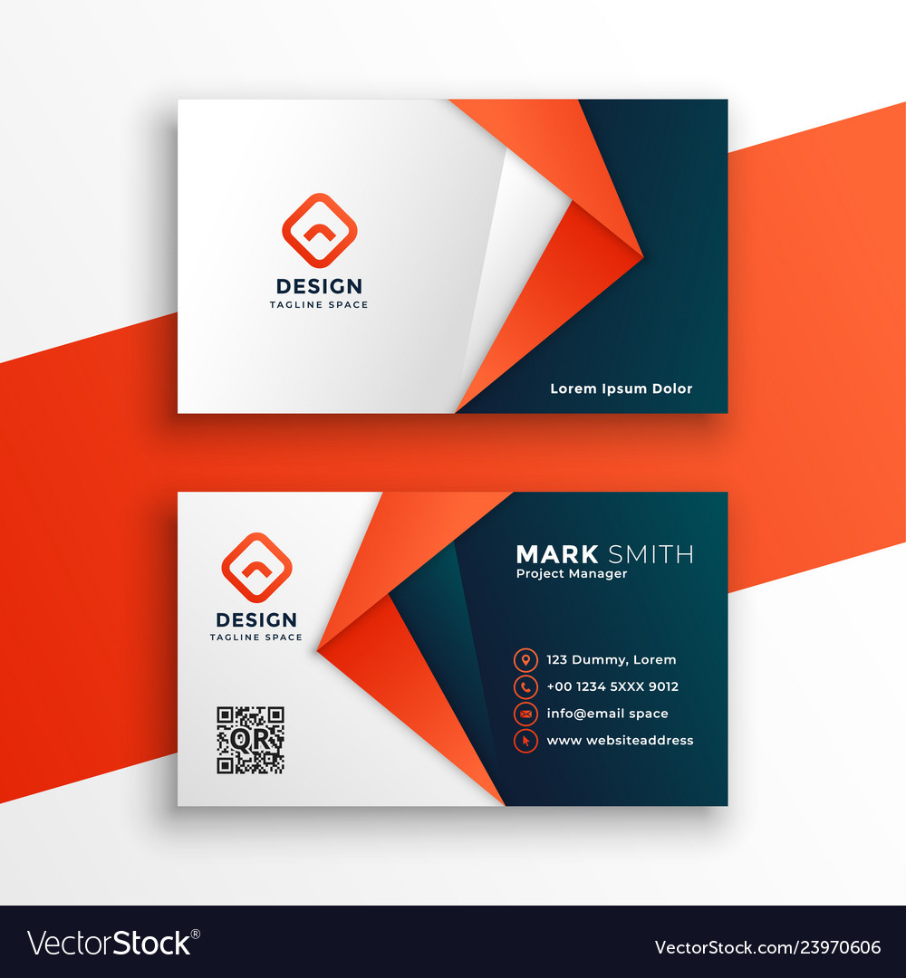 Professional business card template design Vector Image
