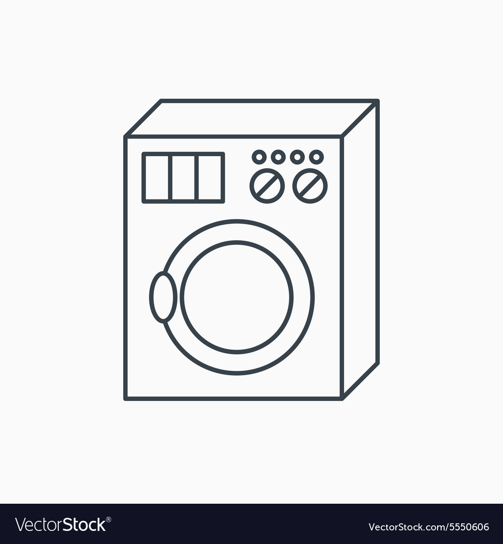 Washing machine icon Washer sign
