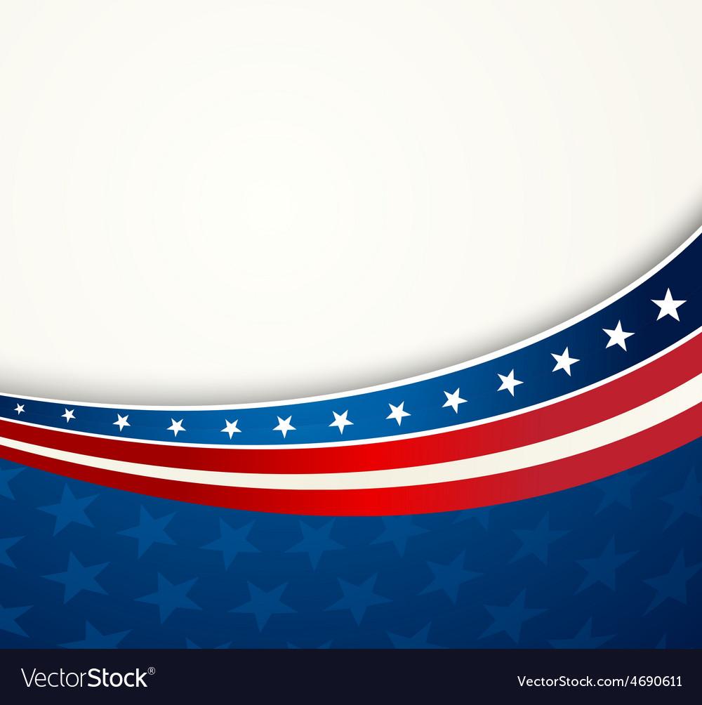 american flag patriotic background royalty free vector image