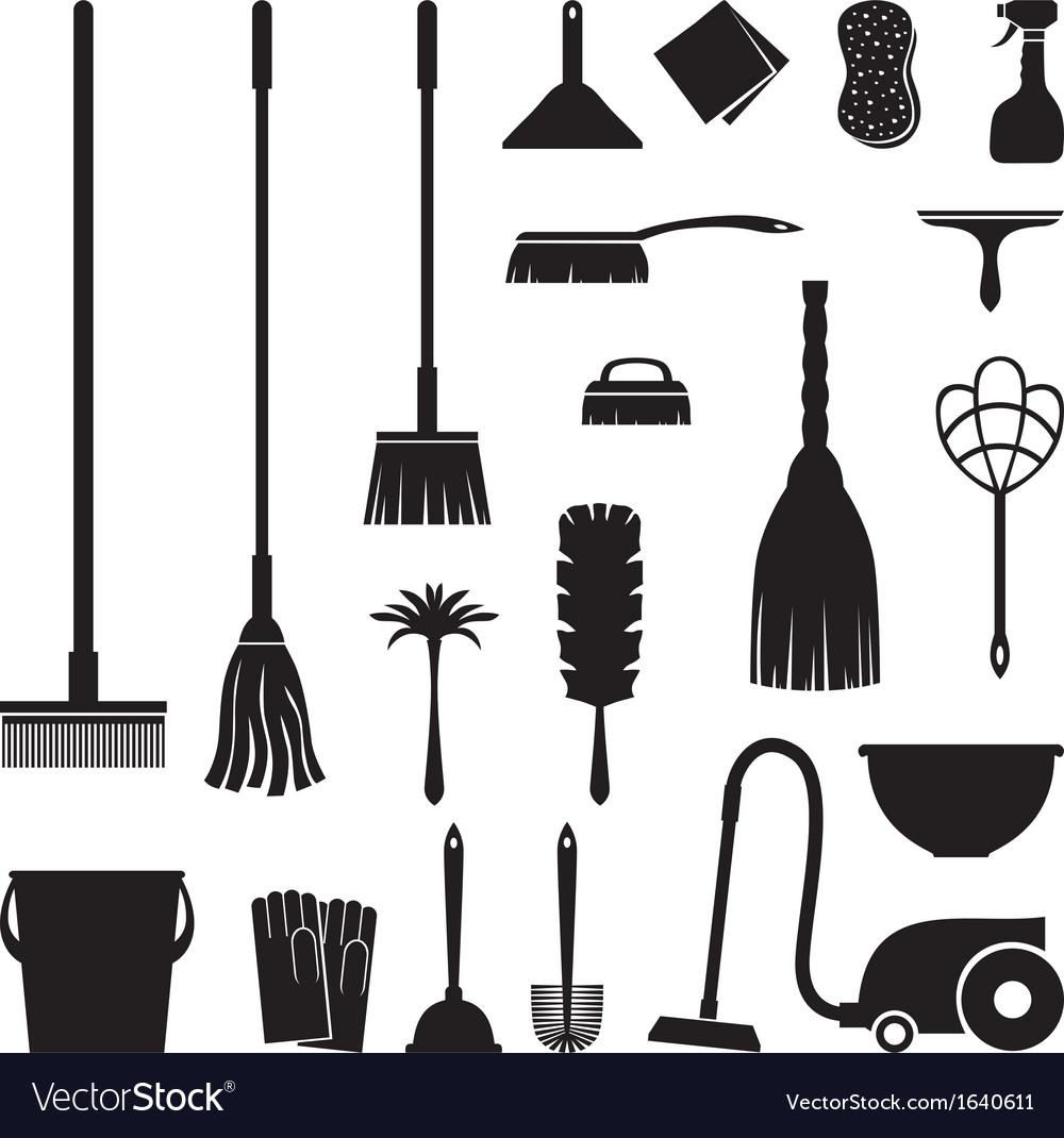 Clean set vector image