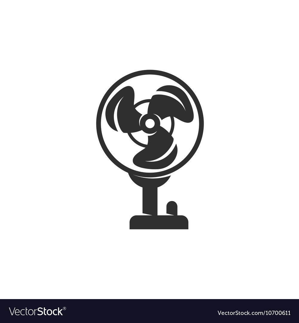 Fan icon isolated on a white background