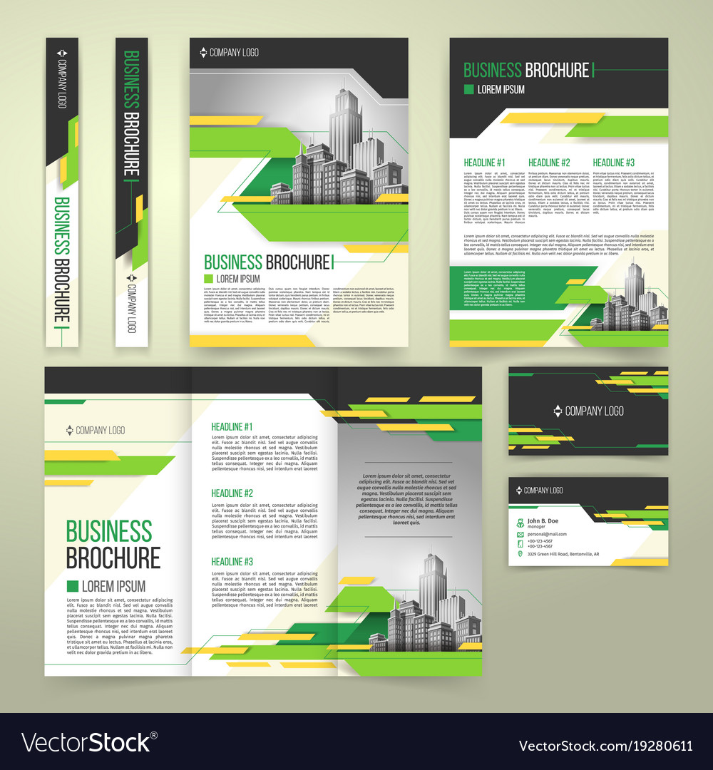 Flyer cover design business brochure and