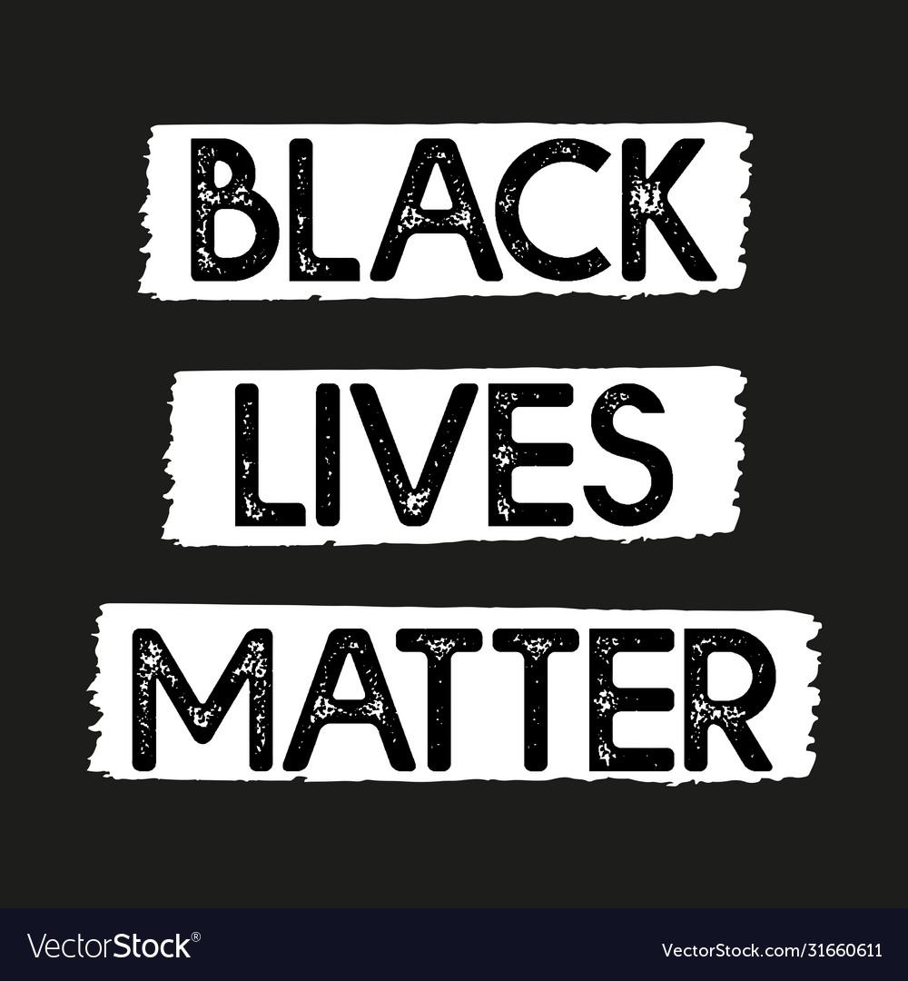 Hand sketched black lives matter quote lettering