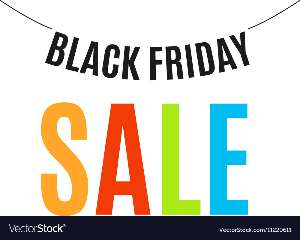 Isolated colorful black friday announcement logo