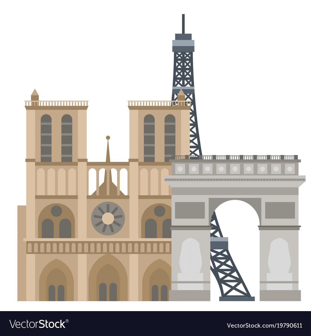 Paris icons famous travel cuisine