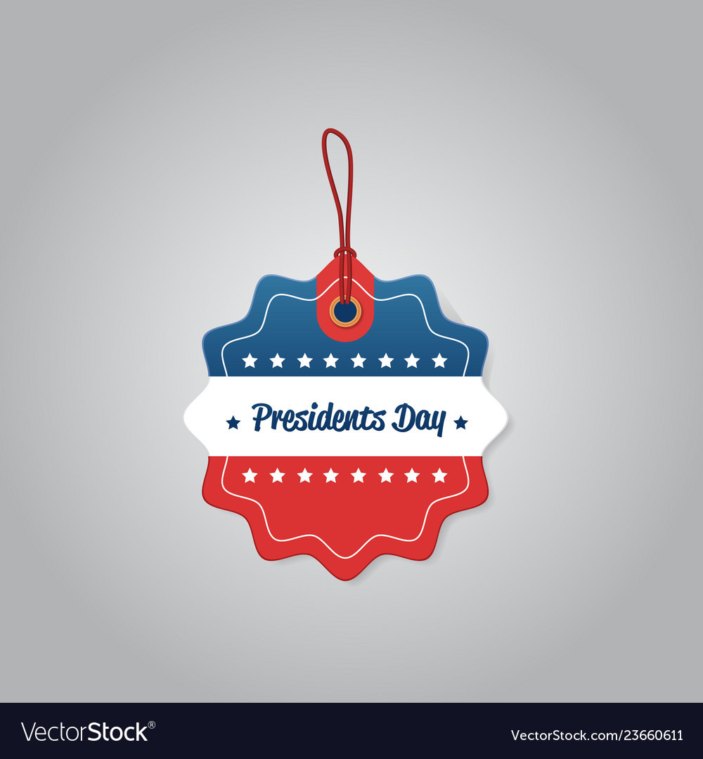 Price label tag happy presidents day holiday big