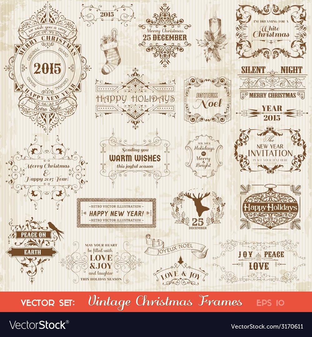 Set Christmas Calligraphic Design Elements
