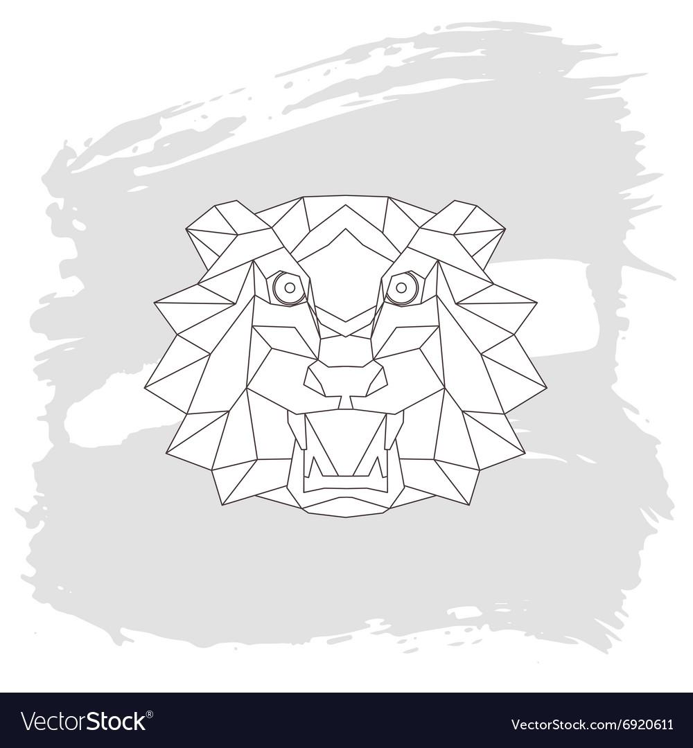 Tiger head triangular icon geometric trendy