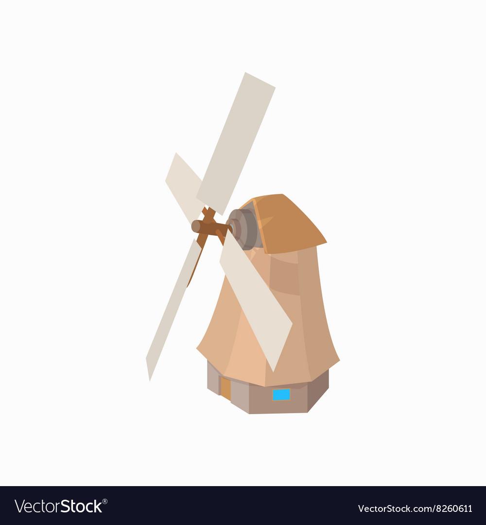 Windmill icon cartoon style
