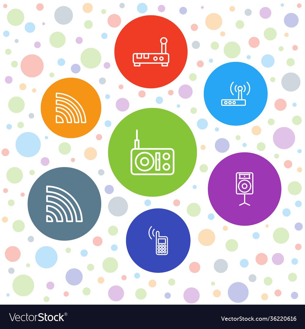 7 wireless icons